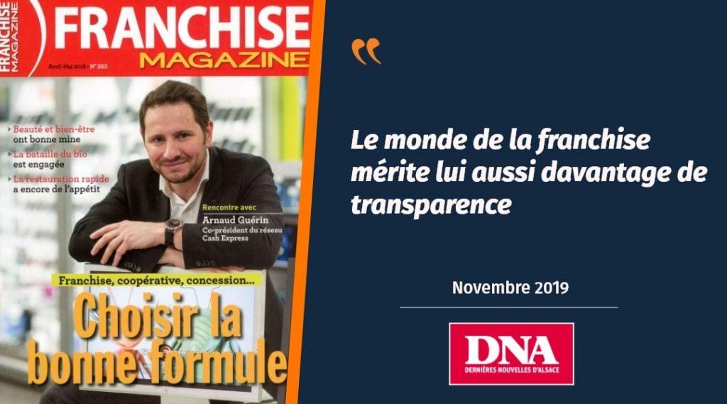 Les DNA parlent du rachat de Franchise Magazine par Plus que PRO