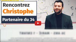 Portrait de Christophe, partenaire Plus que PRO dans l'Hérault (2020)