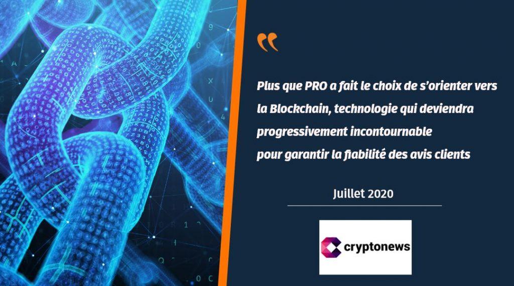 Cryptonews parle d'Avis Clients Blockchain